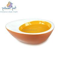 Small Egg Bowl for Pet /Pet food bowl /Ceramic cat dish in egg shape