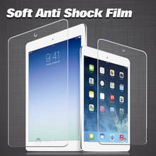 Cell phone accessory TPU ultra thin anti-shock screen protector film for apple ipad 5