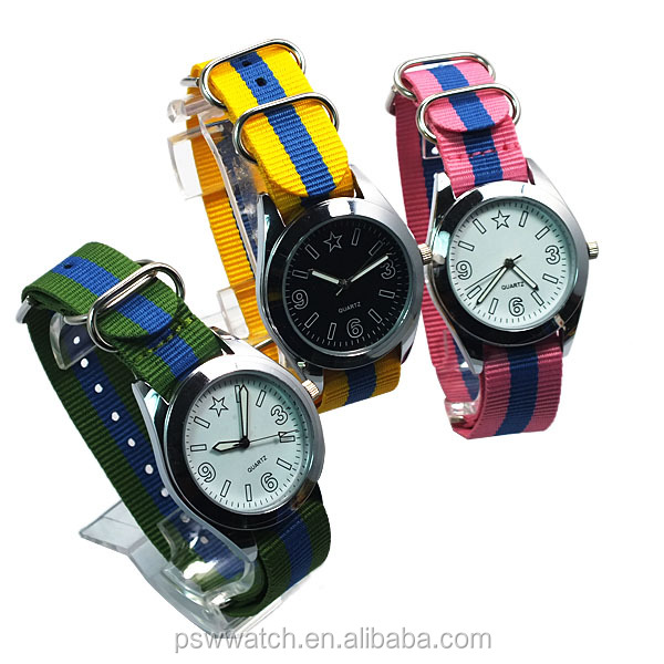 teenager watches with multicolor nato strap