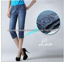 la marca superior de mujeres nuevo diseño bordado mezclilla pantalones vaqueros pantalones cortos