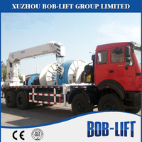 made in China telescopic boom dump truck with cheap cargo crane for sale