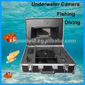 pesca subaquática da câmera de vídeo
