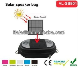 Portable solar speaker bag Solar bags Rechargeable by solar