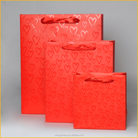 Custom Wedding paper gift bag with UV coating