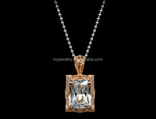 Young School Girls Jewelry Handmade Alloy And Crystal Necklace