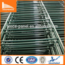 Galvanized / Polyester coated green PVC Double Edged Wire Mesh Fence Netting