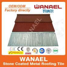Heat insulation Wanael stone coated steel roof tile, high quality decorative roof