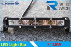 18W-led high intensity offroad led light bar! Single row mini rigid led light bar for vehicles,truck,tractor,cars,motocyles