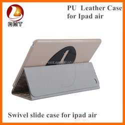 2015 hot 360 degree rolating leather case for IPAD 5 and ipad air