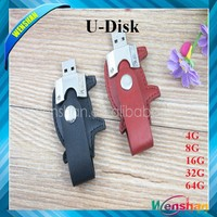 usb flash disk promotion,animal pig shape USB leather flash drive with key chain