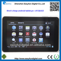 Cheap price 9 inch Allwinner A13 android tablet pc,i robot android tablet pc touch screen, China mainland manufacturer