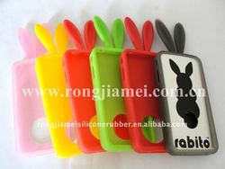 Flexible Rabbit Silicone Cover with Best Quality for Iphone