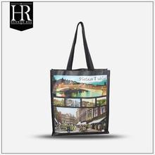 cheap black photo printing pvc shopping bag