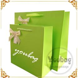 Promotion custom recyclable custom paper shopping bag with hiagh quality with great price