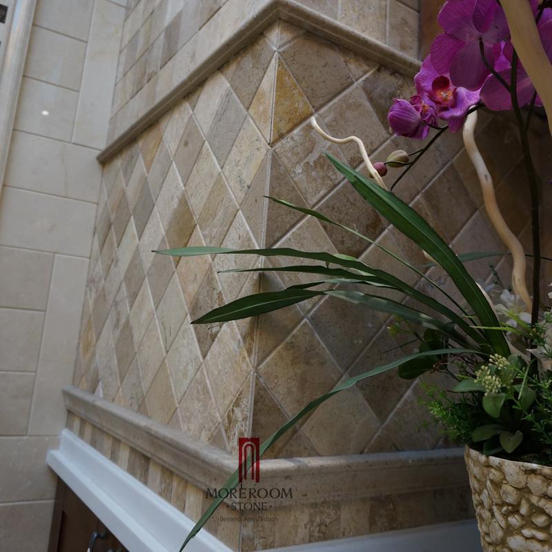 Beige marmeren steen tegels keuken wandtegels keuken foto marmer ...