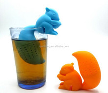 SQUIRREL SHAPE SILICONE TEA INFUSER LOW PRICE SILICONE TEA STRAINER FACTORY