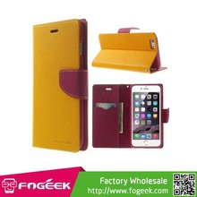 Mercury PU Leather Card Holder Case for iPhone 6 Plus With Card Slot & Stand