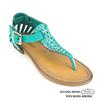 2015 soft flat sandal rhinestone ornament ladies sandal chappal and ladies fancy flat sandal