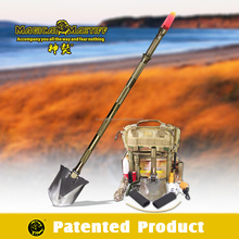 Camping Tool/Outdoor Survival Gear/Multifunction Shovel with power flahshlight and chain saw,bag,screwdriver