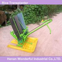 wonderful China mini manual walking 2 row hand rice transplanter for sale