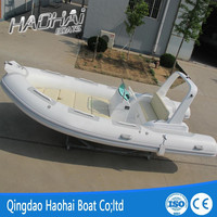 5.2m fiberglass RIB inflatable outboard speed boat