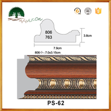 Plastic Building Material Wood Like Wall Panel Indoor Decoration PS Moulding