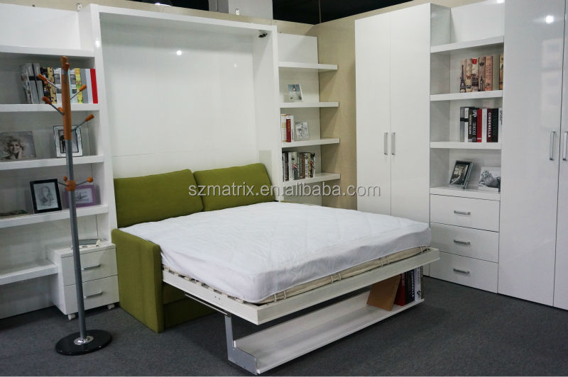 Folding sofa wall bed vectical murphy bed folding wall bed foldable bed wall mounted bed view Schrankbett mit sofa