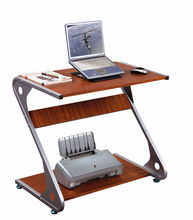 Modern wooden roll top computer desk