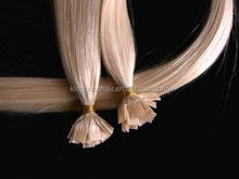 white blonde color high quality 1g/strand keratin hair extensions professional factory supplier