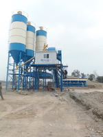 HZS50 high efficiency ready mixed concrete batching plant for sale