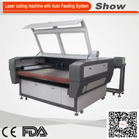 AZ-1490F China dongguan automatic industrial fabric cutting machine knitted fabric engraving machine