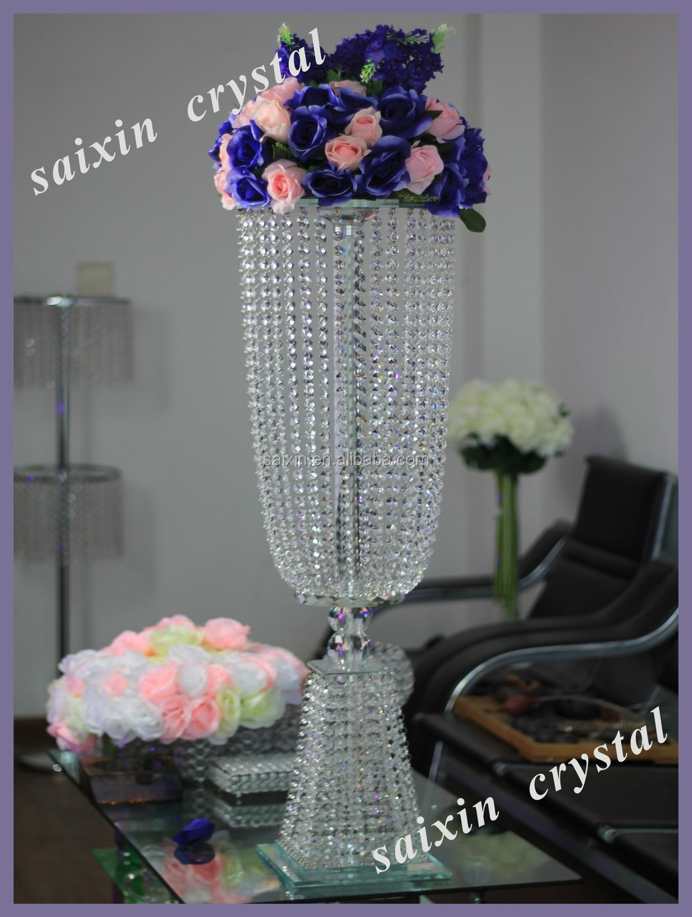 Acrylic crystal wedding centerpiece table stand