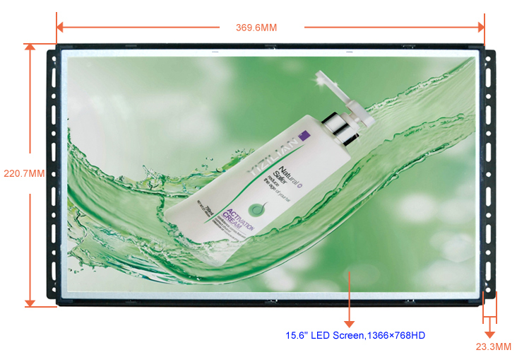 """15.6"""" lcd monitor usb media player for advertising"""