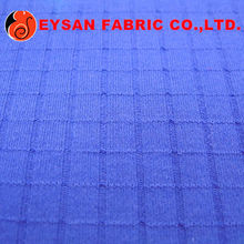 POLYESTER COTTON BLEND INTERLOCK CHECK FABRIC