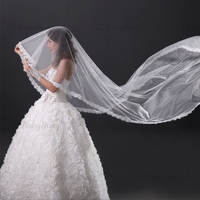 2015 new arrival one layer white ivory crystal pearl exquisit beaded unique wedding bridal veil