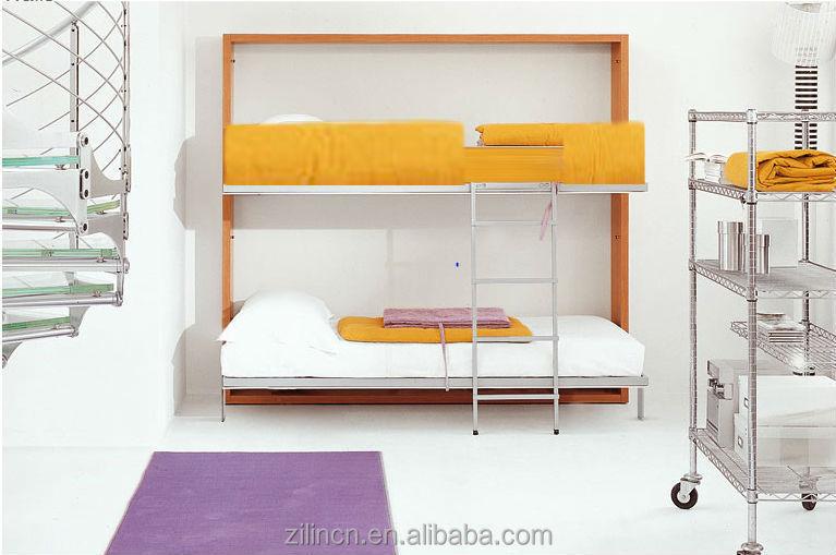 alta calidad del diseo moderno pared bed horizontal plegable cama litera