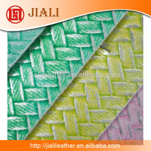wholesale embossing knitted pattern textiles leather for bag