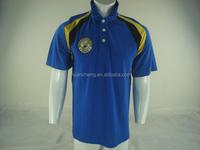 100% cotton custom design blue polo t shirt