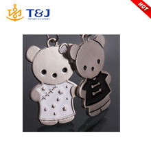 >>>Lovely Bear Couple Keychains New Fashion Metal Key Chain For Car Key Ring Trinket Items Key Finder Chaveiro