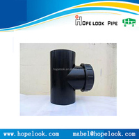 Access tee for same floor drainage and siphonic system