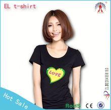 Excellent Equalizer EL T-shirt panel,light up music t-shirts panel,led tshirt panel/el panel for t-shirt