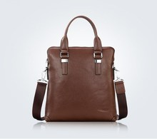 2015 Hot sell stylish brown men leather tote bag