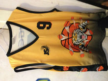 2014 Wholesale Basketball Sublimation team uniform 100% polyester custom basketball uniform with high quality