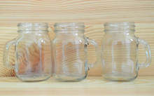 Hot sale clear yogurt glass bottle with handle and lid