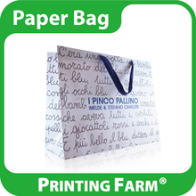 Full Color Printing Recyclable Carrier Paper Bag