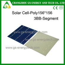 China made 5x5 inch polycrystalline Silicon 17.6% high efficiency Poly solar cell