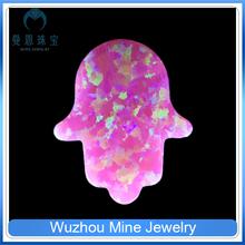 fashion jewelry synthetic opal hamsa diy jewelry beads synthetic pink opal beads
