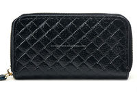2014 new style simple fashion quilted genuine leather handmade wallets