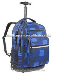 Hot sell factory cheap trolley backpack with the wheel student trolley school bags