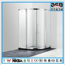 new design floor standing frame 8mm Tempered Glass tap shower cabin